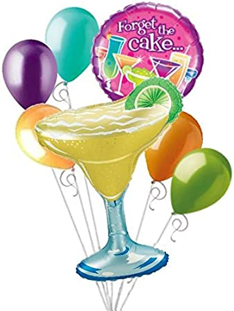 Fantastic Amazon Com 7 Pc Margarita Forget The Cake Cocktails Birthday Birthday Cards Printable Giouspongecafe Filternl