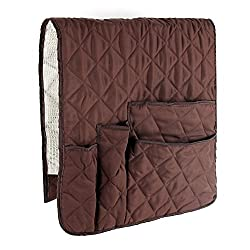 FlyingBean Anti-Slip Armrest Caddy Pocket Organizer for Sofa Couch Chair Recliner Loveseat, Storage for Phone, Book, Magazines, TV Remote Control, Armchair Remote Control Holder, 33 x 16 inches