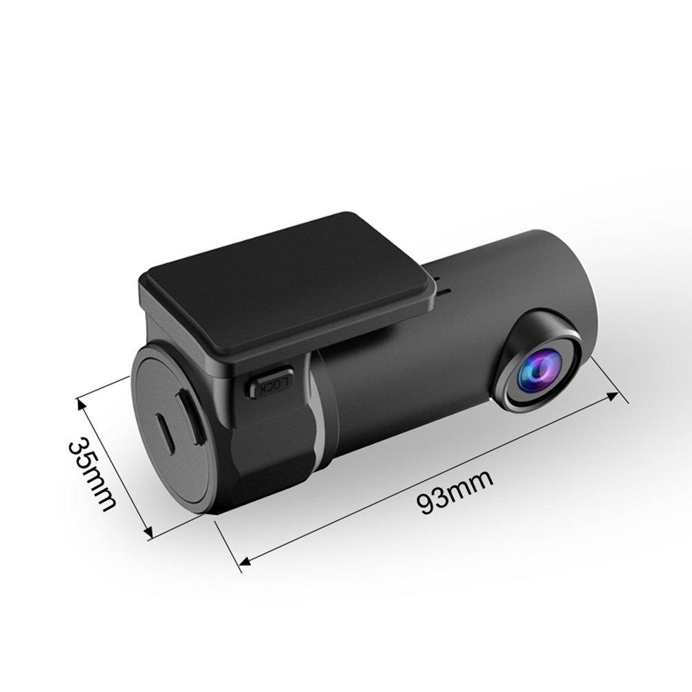 Mini WiFi DashCam FHD 1080P DVR Rekorder 170/° Vorder F2.0 Weitwinkel Dashcam tragbare Videokamera mit Super Nachtsicht Parkplatz-Modus WDR G-Sensor Starcrafter Auto Kamera Loop-Aufnahme