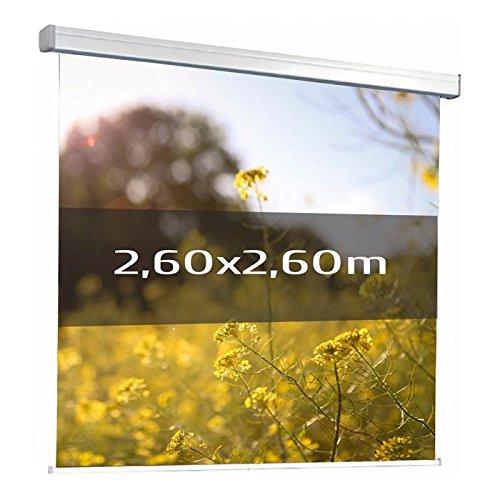 KIMEX 042-3626 Schermo di proiezione elettrico 2,60 x 2,60 m Formato 1:1 Telo bianco