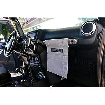 SPIDERWEBSHADE Jeep Wrangler Mesh GrabBag Passenger Accessory Storage Pouch Organizer/USA Made with 5 Year Warranty in Orange