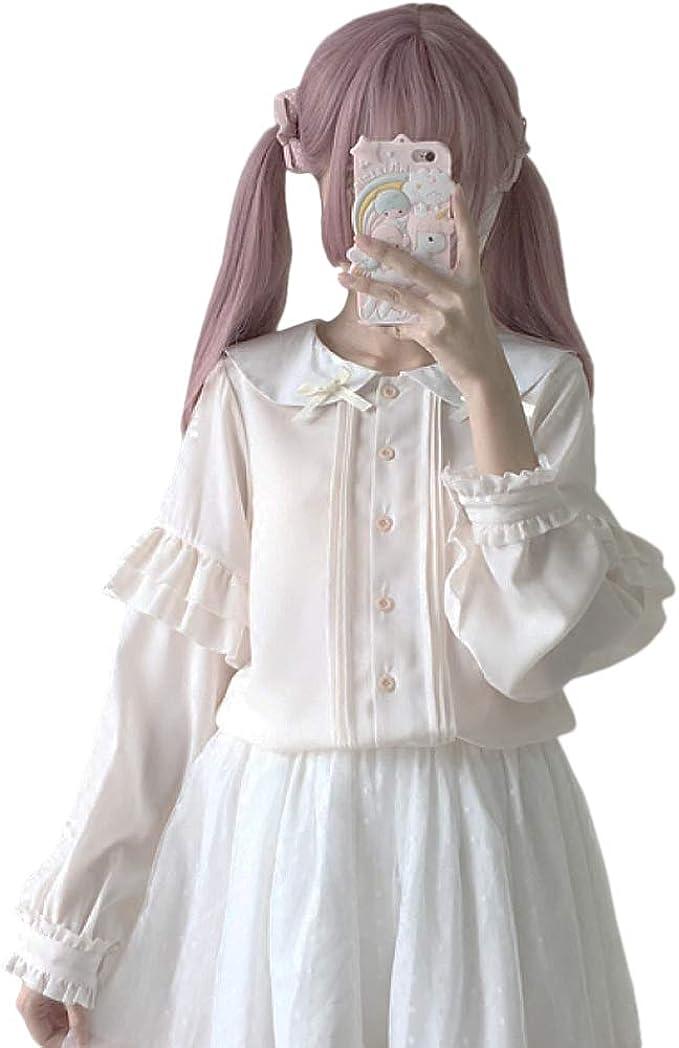 Himifashion Top /à Manches Longues Femme Taille Unique Manches Longues