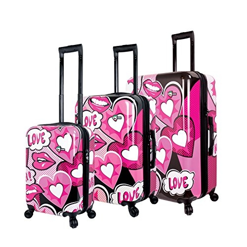 cute pink design luggage sets