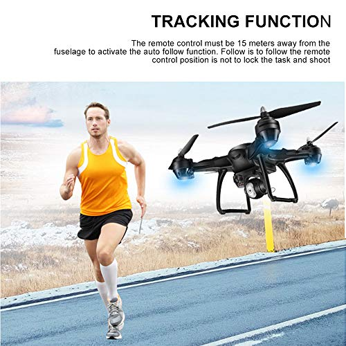 LH-X38G 2.4GHz Dual GPS Wifi FPV 1080P 4CH RC Drone, Air Pressure Setting Aerial Photography Automatic Follow Real-time Transmission Pointing Headless Modes(Above 14 Age),With Backpack (Blue) by Sonmer (Image #4)