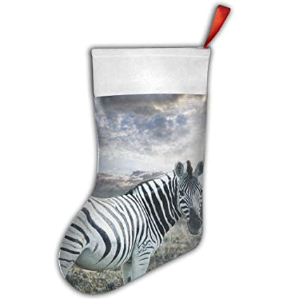 loioi67 sunset zebra christmas stocking xmas stocking santa snowman christmas decorations and party accessory - Christmas Zebra Decorations