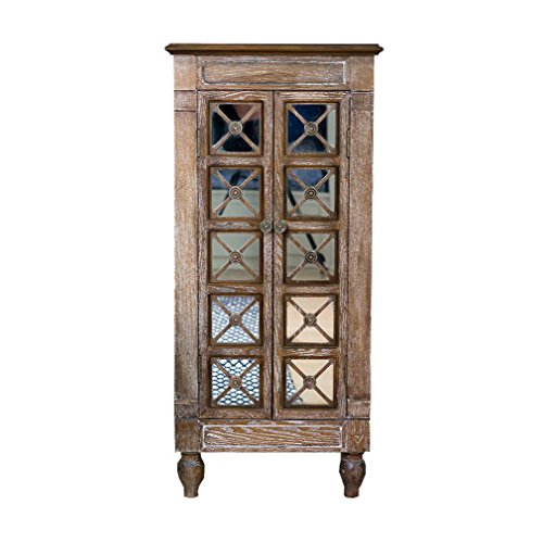 - Hives and Honey 6008-981 Cadence Armoire Jewelry Storage Chest, Large, Oak