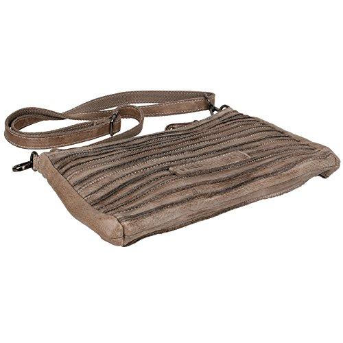 FredsBruder Riffel Crossbody Shoulder Bag stone
