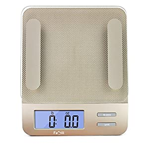 Famili FM207 Accurate Gram Scale Digital Food Scale with Tempered Glass 11 lb/5kg Weight Capacity Kitchen Scale