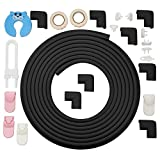 #5: Corner Guards by Bfence Extra Large with 24ft Edge Protector, 8 corner bumpers Bonus Safety Locks, Socket Covers and Door Stopper - Babyproofing Table Edge Guards (Black)