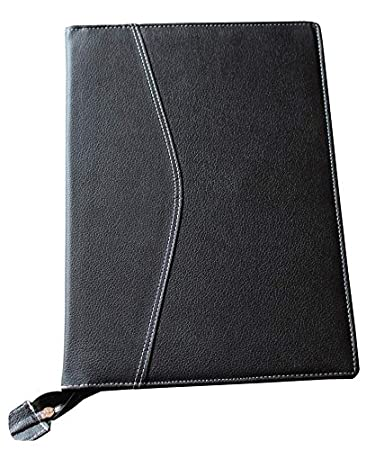 917589979cb Jaipurwala Black Faux Leather Executive File document Folder   Documents  File Folder  Portfolio Folder-