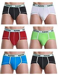 Men's Underwear,KAYIZU Brand Classics Comfort Soft Breathable Brief (6-Pack)