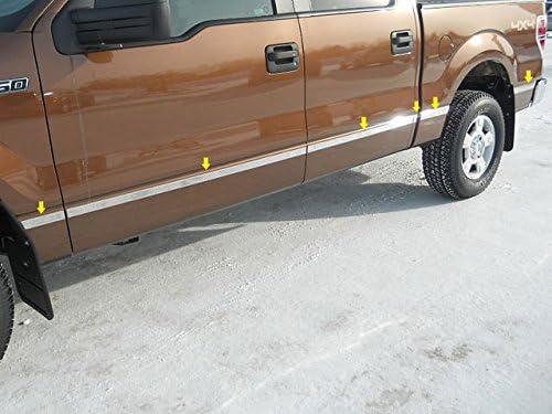 QAA fits 2009-2014 Ford F-150 12 Piece Stainless Body Molding Insert Trim Kit 1.5 Width MI49317