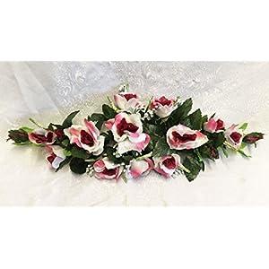 Rose Swags MANY COLORS Silk Wedding Flowers Chuppah Arch Gazebo Centerpiece 4
