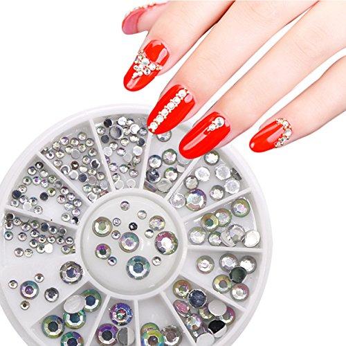1 Pack 3D Crystal Nail Art Rhinestone Wheel Glitter Decorati
