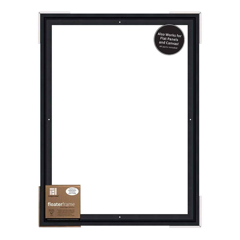 Ampersand Floaterframe for Wood Panels, 7/8 Inch Depth, Bold, 18x24 Inch, Black (FBOLD781824B) by Ampersand (Image #1)