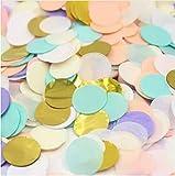 Since 600pieces 2 Inch Pastel Confetti for Wedding Table Decoration Party Favor Push Pop Confetti (Pastel Gold)
