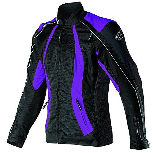 AGV Sport Xena ladies non-vented textile jacket Black/Purple Size -