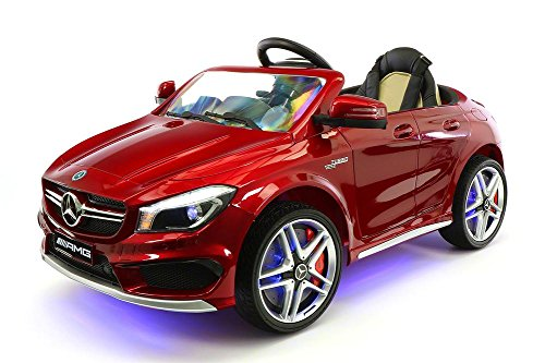 2018 12V Mercedes CLA45 Electric Powered Battery Operated LED Wheels Kids Ride on Toy Car with Parental Remote Control (Cherry Red)