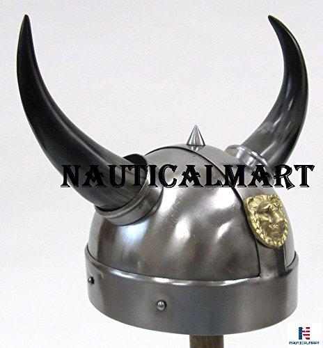 Authentic Viking Costumes (Armor Helmet Viking Horn Authentic Reproduction Warrior Halloween Costume)