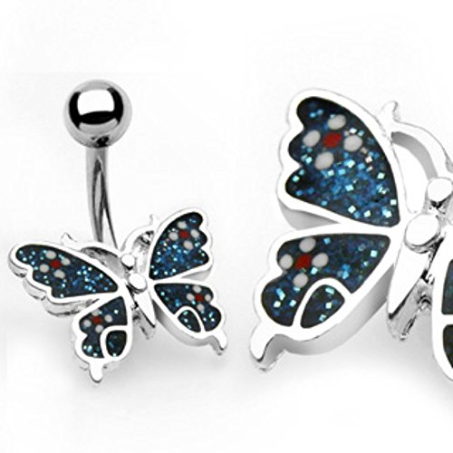 - Colored Butterfly WildKlass Navel Ring (Sold by Piece)