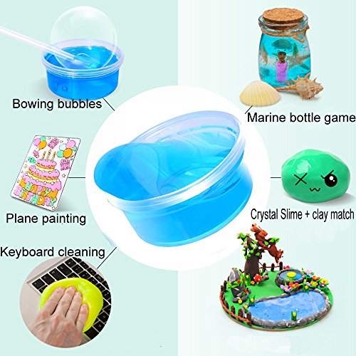 Kciline crystal mud children educational intelligent plasticine kciline crystal mud children educational intelligent plasticine magic crystal clay slime crunchy slime toys for negle Gallery