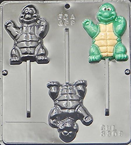 Ninja Turtle Lollipop Chocolate Candy Mold  3308 NEW