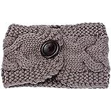 Clearance! Women's Chunky Crochet Cable Knitted Turban Headband Girls Ear Warmer Head Wrap
