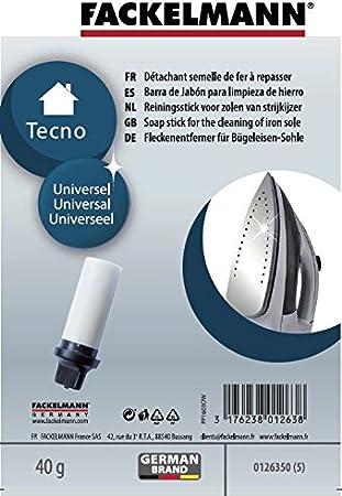 Fackelmann JABON para Limpiar Superficie DE Hierro, Gamuza, Blanco, 30x30x90mm