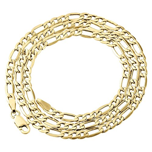 10K Yellow Gold 3.5mm Figaro Chain Necklace Lobster Clasp, 24 Inches by Paradise Jewelers