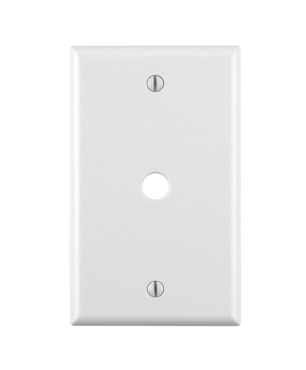Leviton 88013 001-000 標準サイズ 電話/ケーブル壁プレート 1ギャング 長さ4-1/2インチ x 幅2-3/4インチ 高さ0.22インチ 3  B07P3K6FXR