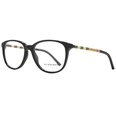 06d9f6949dc1 Burberry BE2112 Glasses in Black BE2112 3001 52 52 Clear  Amazon.co.uk   Clothing