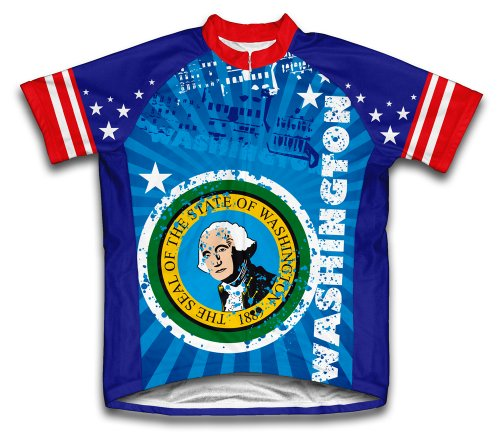 Washington Short Sleeve Cycling Jersey for Youth - Size L