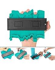 Irregular Profile Contour Gauge, Contour Frame Profile Duplicator Gauge Tool, Woodworking Irregular Shape Duplications Plastic Jig (Green)