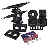 Cal 7 Longboard Skateboard Combo Package with 70mm wheels & 180mm Lightweight Aluminum Trucks, Bearings Complete Set & Steel Hardware