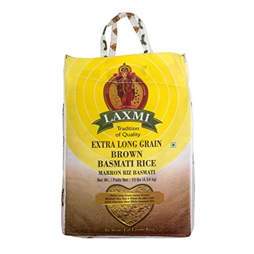 Laxmi All-Natural Brown Basmati Rice, 10 Pounds (Best Brand Of Brown Rice In India)