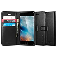Spigen Wallet S iPhone 6 Case with Foldable Cover and Kickstand Feature for iPhone 6S / iPhone 6 - Black
