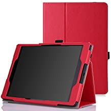 Google Nexus 9 Case - MoKo Slim Folding Cover Case for Google Nexus 9 8.9 inch Volantis Flounder Android 5.0 Lollipop tablet by HTC, RED(With Smart Cover Auto Wake / Sleep Feature)