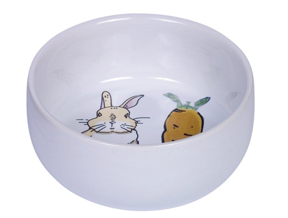 Nobby 73753/Ceramic Bowl Carrot Plus/ /White