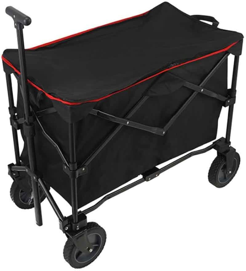 XFY Portable Hand Trucks, Collapsible Outdoor Utility Wagon, Heavy Duty Trolley Utility Transport Cart, for Outdoor Festivals Camping