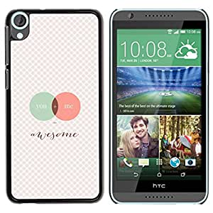 FU-Orionis Colorful Printed Hard Protective Back Case Cover Shell Skin for HTC Desire 820 - Aperture Science Innovators