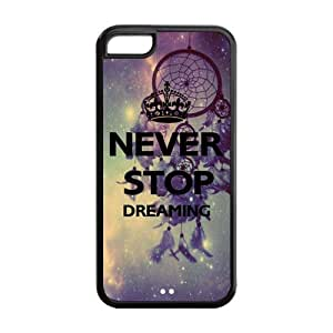 Never Stop Dreaming Solid Rubber Customized Cover Case for iPhone 5c 5c-linda538
