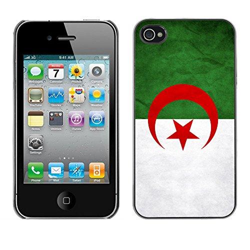 Omega Case PC Polycarbonate Cas Coque Drapeau - Apple iPhone 4 / 4S ( Algeriga Grunge Flag )