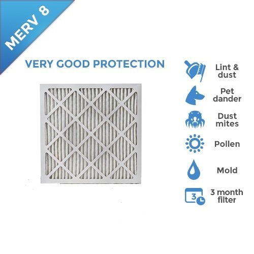 18x20x1 MERV 8 Pleated AC Furnace Air Filters. 4 PACK from Filters Delivered