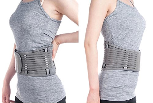 Zcargel Adjustable Elastic Bamboo Charcoal Fiber Medical Grade Exercise Brace,Double Pull Straps Lumbar Support Belt Brace,Lumbar Disc Herniation,Muscle Strain,Back Pain Protector for Women and Men by Zcargel (Image #5)