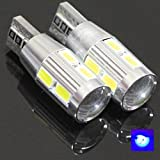 Best Ridiculously Bright Ice Blue Canbus Error Free T10 Samsung Projector 10 LED Light Bulbs Auto Replacement Lighting With Aluminum Heat Sink White Super Bright Car Light Bulb 194 168 147 152 158 159 161 184 192 193 2881 2825 L157