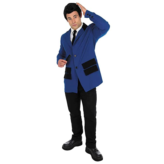 60s -70s  Men's Costumes : Hippie, Disco, Beatles Mens Navy Teddy Boy Costume Adults 50s Decade Subculture Icon Suit $20.95 AT vintagedancer.com