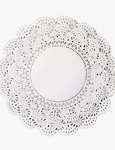 200 ct. 8 inch and 10 inch  Paper Lace Doilies White Round A