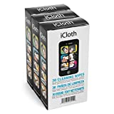 iCloth Screen Cleaning Wipes for hassle-free clean displays on smartphones, tablets, computers [iC90] 3 x 30 pack bundle (90 Wipes)