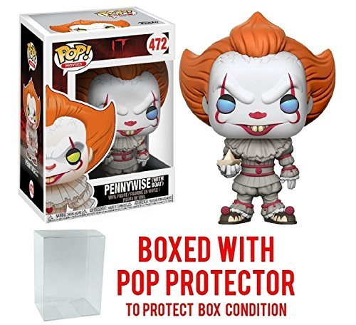 Stephen King's It Pennywise Clown Pop! Vinyl Figure and (Bundled with Pop BOX PROTECTOR CASE)