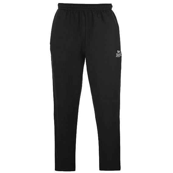 Lonsdale Pantalones de Jogging con Dobladillo Abierto para Hombre ...